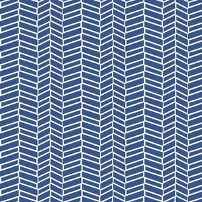 Assymetrical Herringbone / Navy