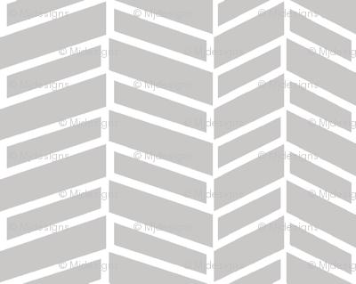Assymetrical Herringbone / Warm Gray