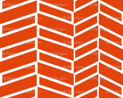 Assymetrical Herringbone / Burnt Orange (See Fabric Image!)