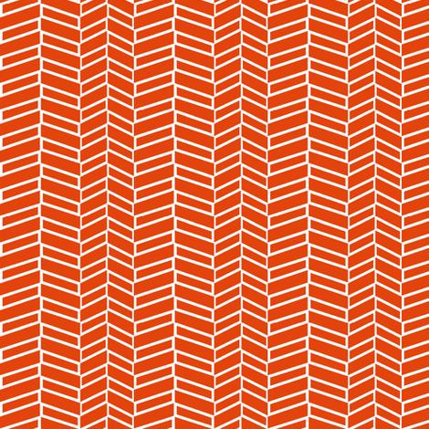 Assymetrical Herringbone / Burnt Orange (See Fabric Image!) fabric by mjdesigns on Spoonflower - custom fabric