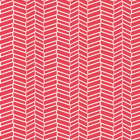 Assymetrical Herringbone / Coral fabric by mjdesigns on Spoonflower - custom fabric