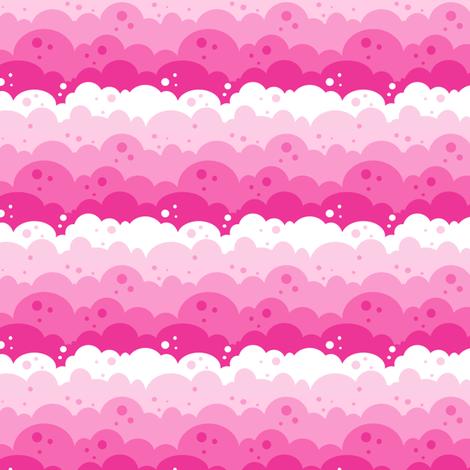 Cloudy Spots - Pink - © PinkSodaPop 4ComputerHeaven.com fabric by pinksodapop on Spoonflower - custom fabric