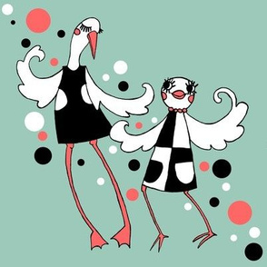 Mod Birds on Aqua - Night on the Town (with bubbles!)