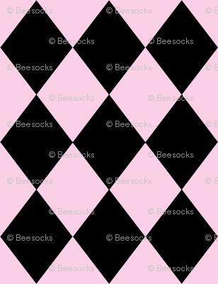 Circus Pink Harlequin Diamonds