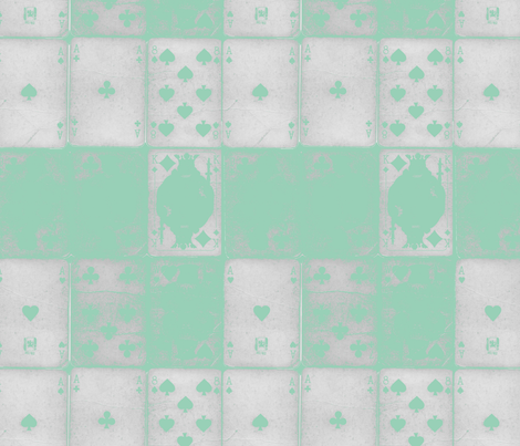 Teal Playing Cards fabric by amyteets on Spoonflower - custom fabric