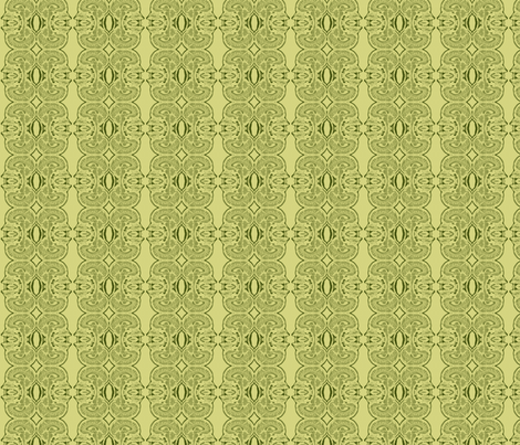 Little Brains in Khaki and Green fabric by bluenini on Spoonflower - custom fabric