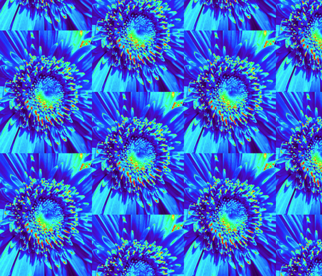 Blue Daisy fabric by dovetail_designs on Spoonflower - custom fabric