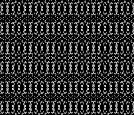 Black Light Bulb fabric by amyteets on Spoonflower - custom fabric