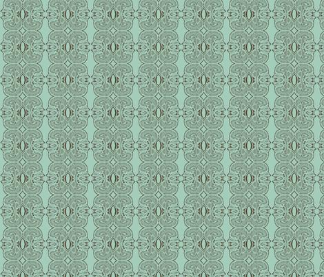 Little Brains in Aqua and Nutmeg fabric by bluenini on Spoonflower - custom fabric