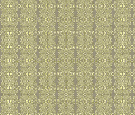 Little Brains in Grey and Light Yellow fabric by bluenini on Spoonflower - custom fabric