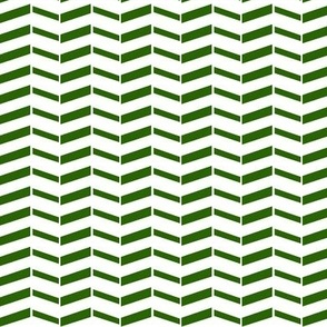 Broken Chevron / Forest Green