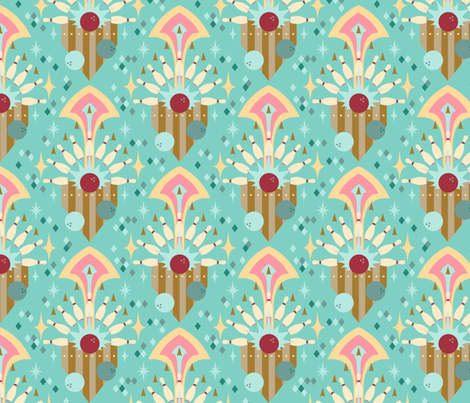 Bowling Medallions fabric by theboerwar on Spoonflower - custom fabric