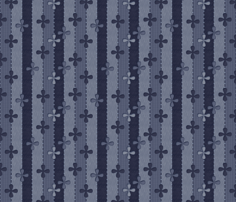 Blueberry Ribbons fabric by glimmericks on Spoonflower - custom fabric