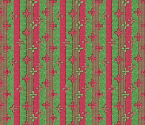 Christmas Ribbons fabric by glimmericks on Spoonflower - custom fabric