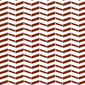 Broken Chevron / Burnt Orange