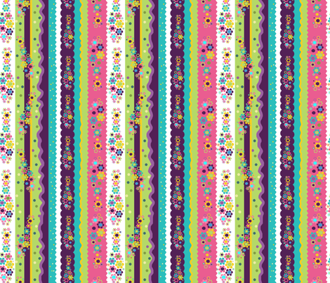 Flower Power Bowling! fabric by beebumble on Spoonflower - custom fabric