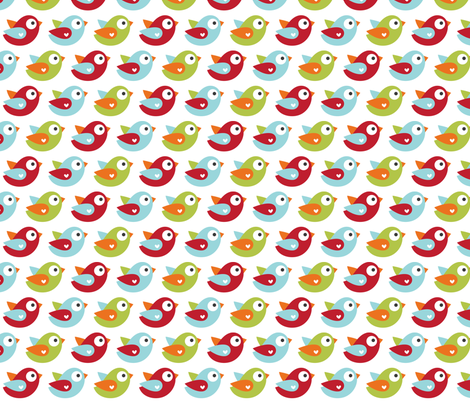 little one boy :: birds fabric by misstiina on Spoonflower - custom fabric