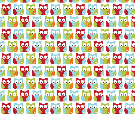 little one boy :: owls fabric by misstiina on Spoonflower - custom fabric