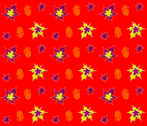 Autumn Leaves must Fall fabric by artist4god on Spoonflower - custom fabric