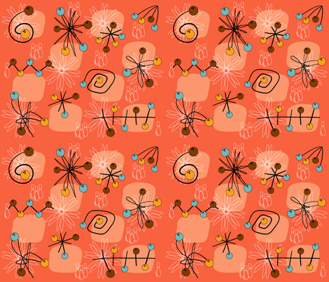 atomic_orange fabric by peppermintpatty on Spoonflower - custom fabric