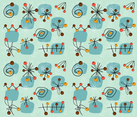 atomic_cyan fabric by peppermintpatty on Spoonflower - custom fabric