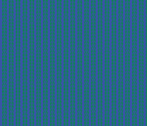 Green on Blue Jagged Stripe fabric by gsonge on Spoonflower - custom fabric
