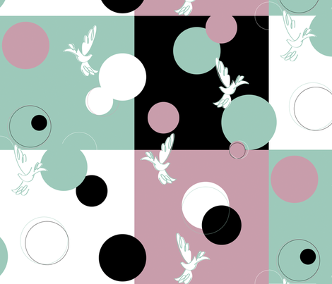 Doves fabric by silverslippers4 on Spoonflower - custom fabric