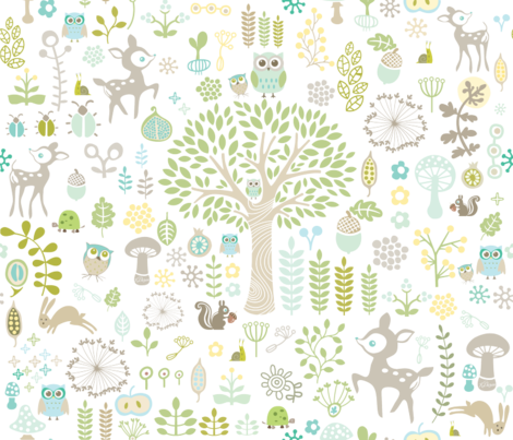 Woodland Wonderland fabric by detail_oriented_studio on Spoonflower - custom fabric
