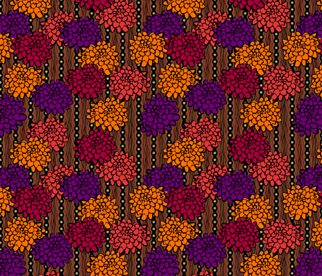 Mums and Bike Chains fabric by glimmericks on Spoonflower - custom fabric