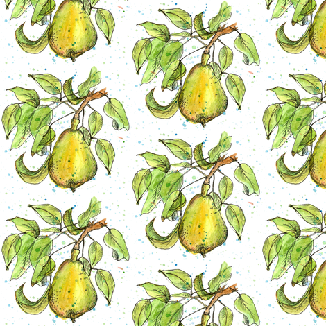 Summer Pear fabric by countrygarden on Spoonflower - custom fabric