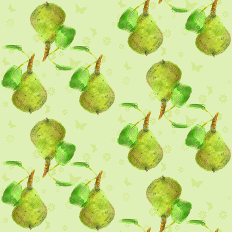 Autumn Pears fabric by countrygarden on Spoonflower - custom fabric