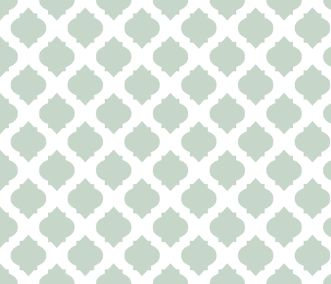 Medallions in Aqua fabric by katphillipsdesigns on Spoonflower - custom fabric