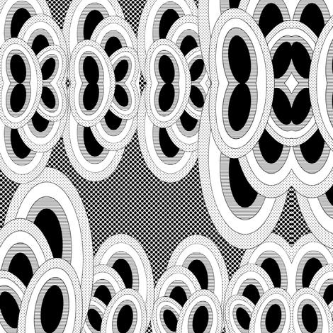 iguana-bg-bw-dots2 fabric by owlandchickadee on Spoonflower - custom fabric