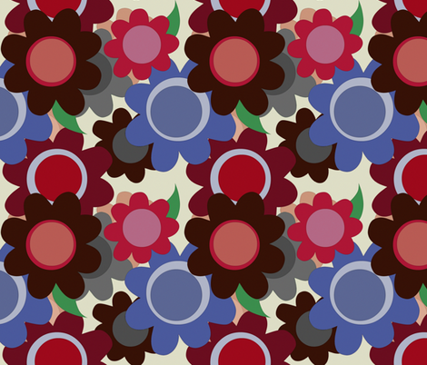 winter flowers fabric by scrummy on Spoonflower - custom fabric