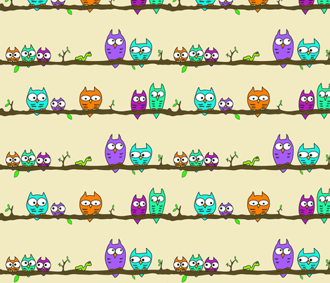 Owls fabric by craftyfox on Spoonflower - custom fabric