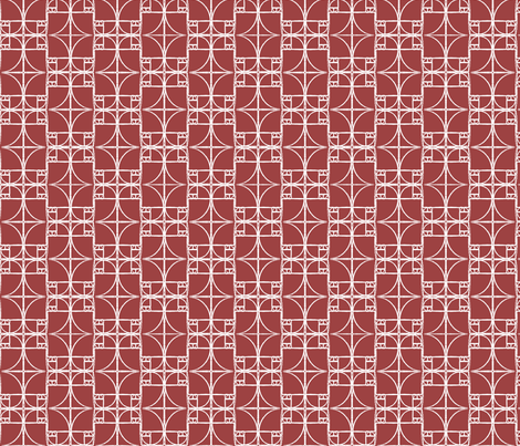 Medium Brick Red Fibonacci Spiral fabric by pantsmonkey on Spoonflower - custom fabric