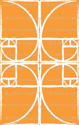 Citrus Orange Fibonacci Spiral