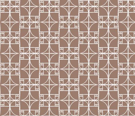 Dk. Taupe Fibonacci Spiral fabric by pantsmonkey on Spoonflower - custom fabric