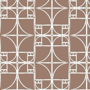 Dk. Taupe Fibonacci Spiral