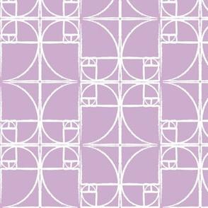 Lilac Fibonacci Spiral