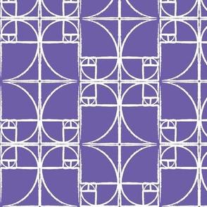 Purple Fibonacci Spiral
