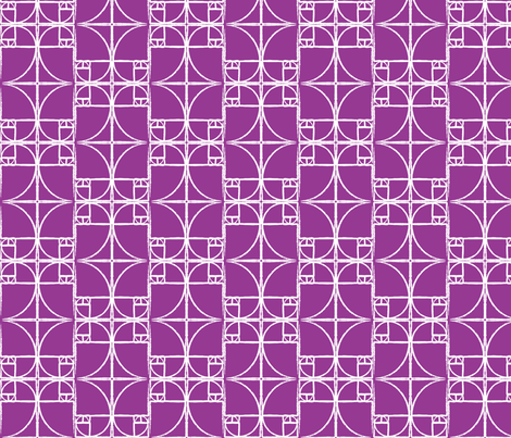 Raspberry Fibonacci Spiral fabric by pantsmonkey on Spoonflower - custom fabric