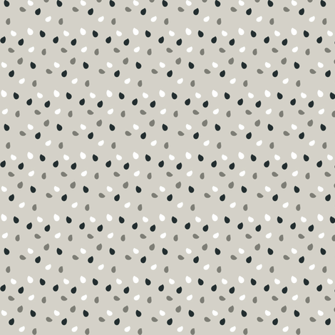 Rain in blue fabric by sawabona on Spoonflower - custom fabric