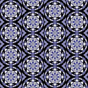 Midnight Snow Dark Tile