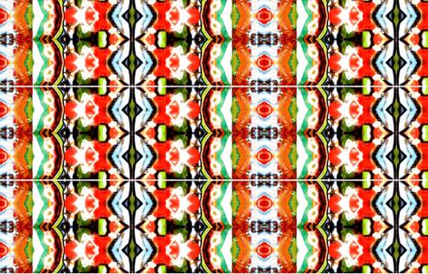 Graffiti in red, orange, turqiose, green and brown fabric by kalliaxa on Spoonflower - custom fabric