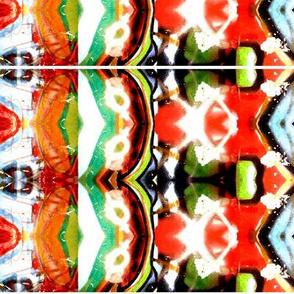 Graffiti in red, orange, turqiose, green and brown