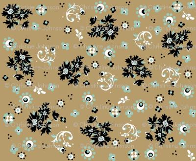 ditsy khaki flora