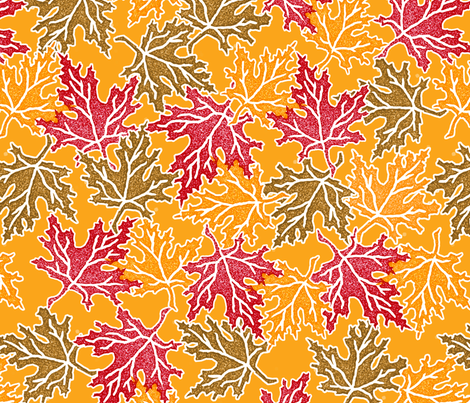 fall_leaves fabric by lynnerd on Spoonflower - custom fabric