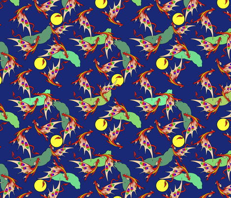 Dragons in flight fabric by hannafate on Spoonflower - custom fabric
