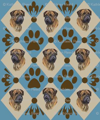 Bullmastiff quilt Two